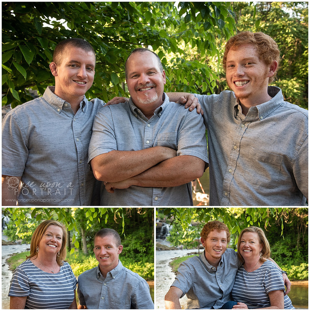 Falls Park family session spring dad mom sons siblings brothers
