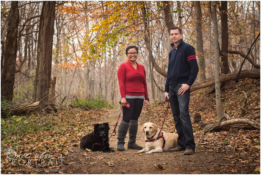 Family Photos with dogs in Arlington Virginia at Potomac Regional Park