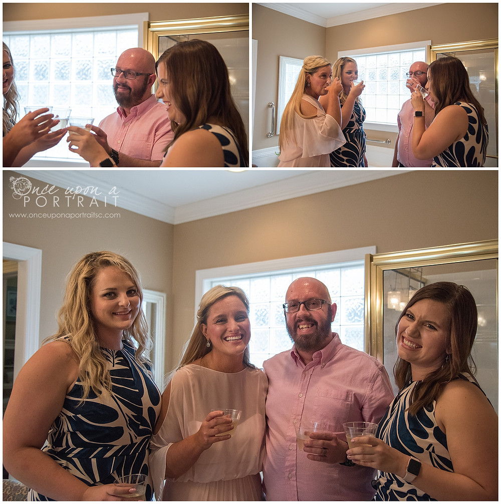 simpsonville wedding getting ready bride