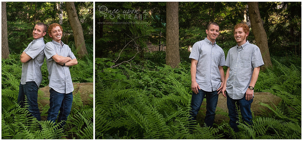 Falls Park family session spring brothers siblings son ferns outdoor