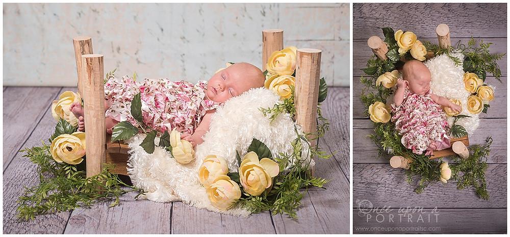 newborn preemie premature baby girl spring pink flowers