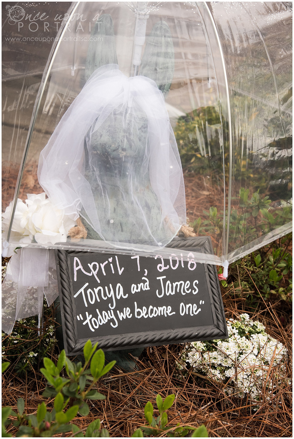 simpsonville intimate backyard wedding details decorations sign