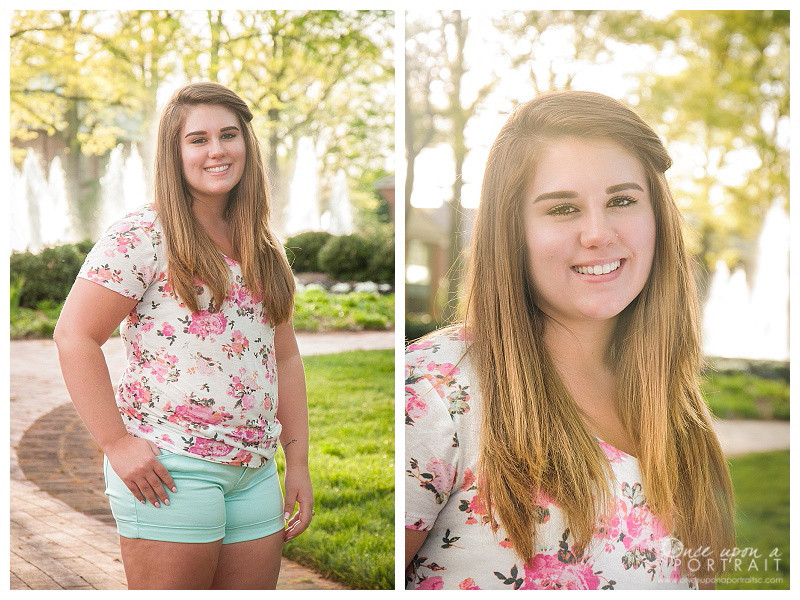 Furman University senior session portrait photographer