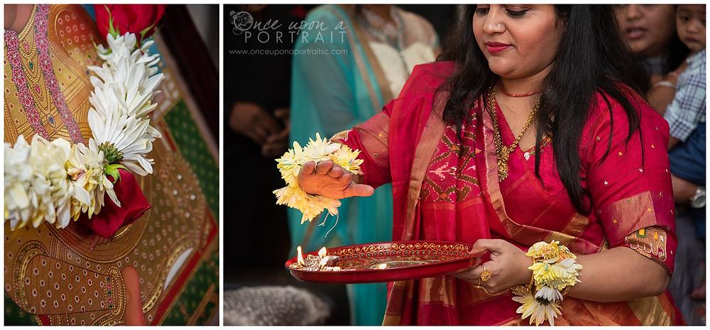Godh Bharai baby shower saree party hindu blessing ceremony