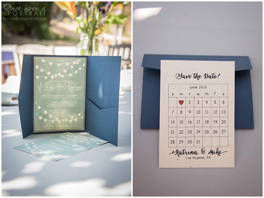 intimate wedding malibu beach california LA los angeles details invitation save the date