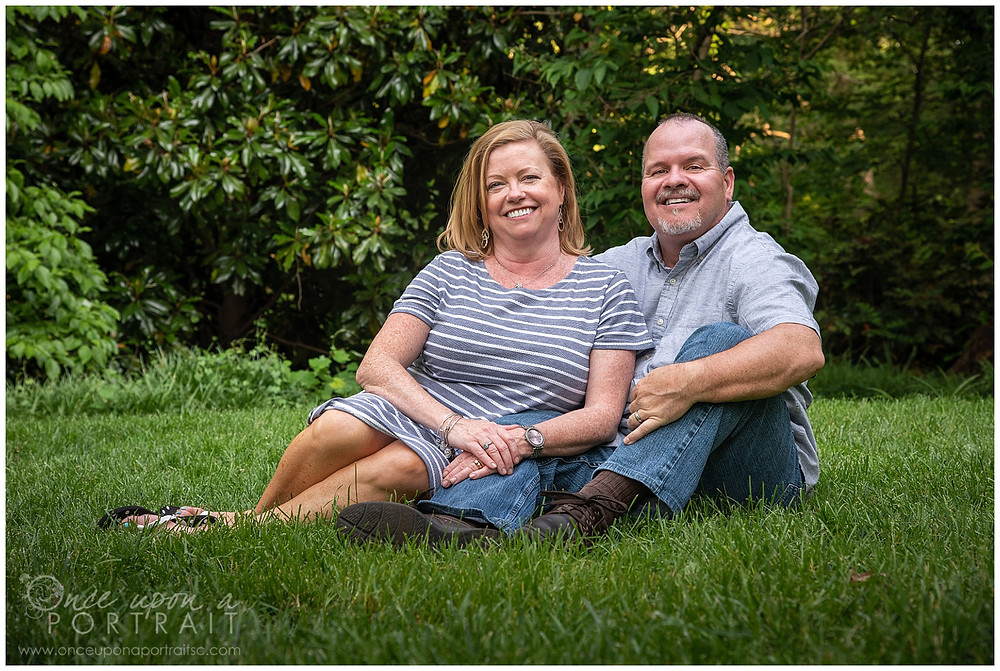 Falls Park family session spring mom dad husband wife green photography