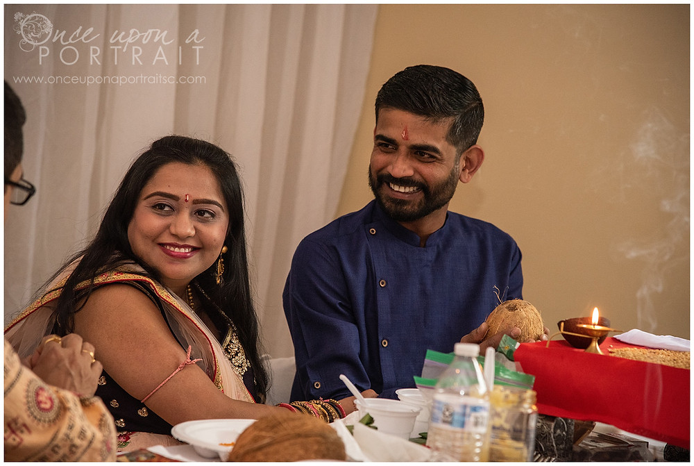 Hindu baby shower ceremony parents mother father