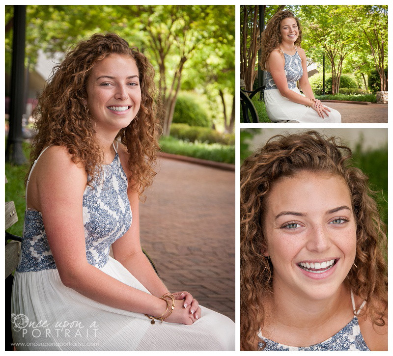 Downtown Falls Park Senior Portraits in Greenville | Simpsonville South Carolina