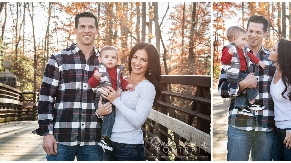 Ferrara Family | Late Fall Family Session at Furman University in Greenville, South Carolina