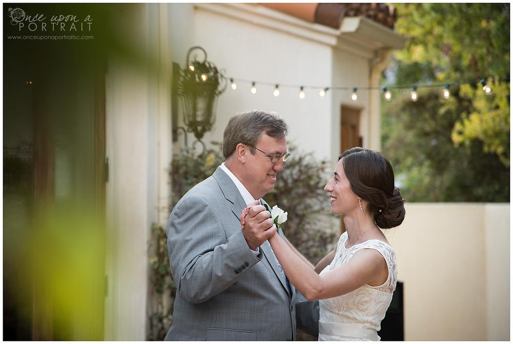 father daughter dance malibu wedding california LA reception