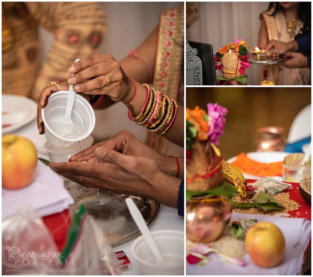 Hindu baby shower ceremony parents mother father details