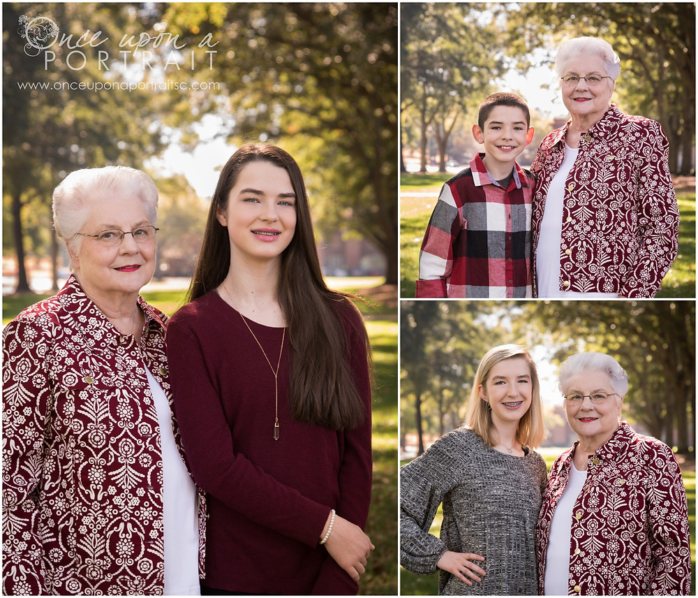 Family session at Furman University in Greenville South Carolina