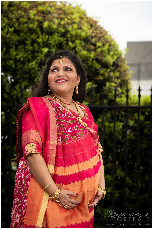 Beena Jigar Patel baby shower saree party Godh Bharai