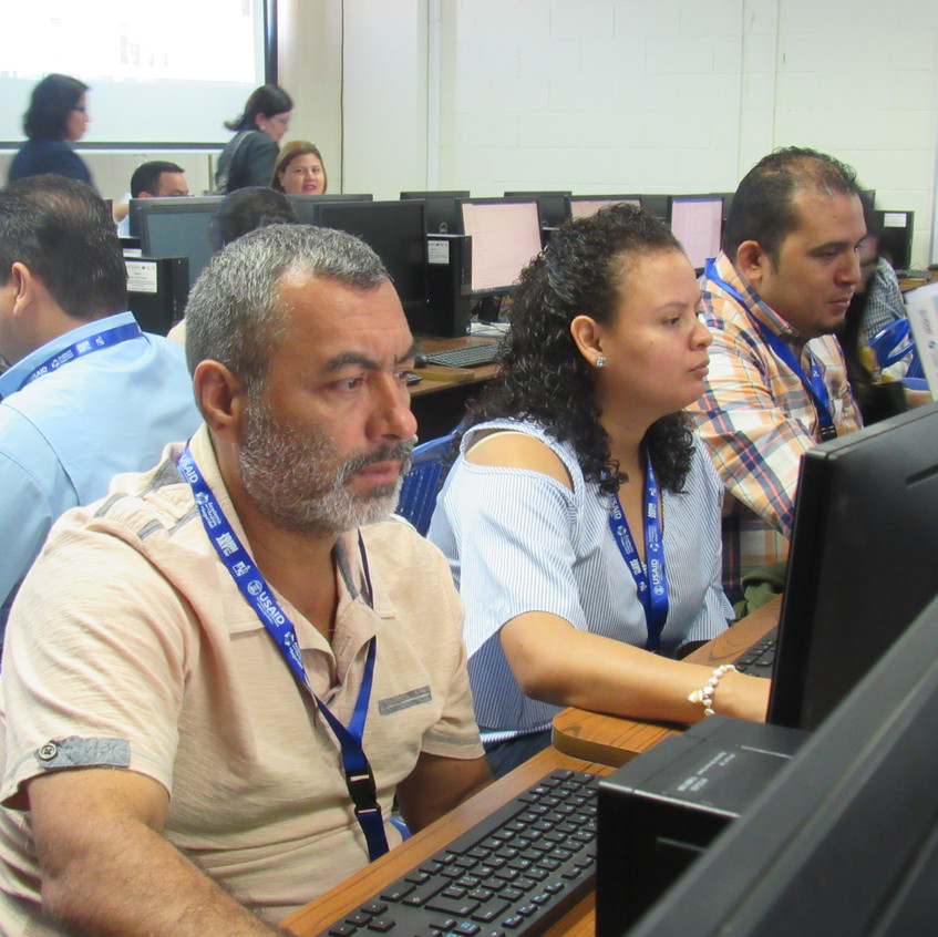 Students during their first session.