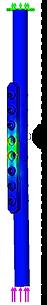 FEM解析 エンプティープレートホール2穴