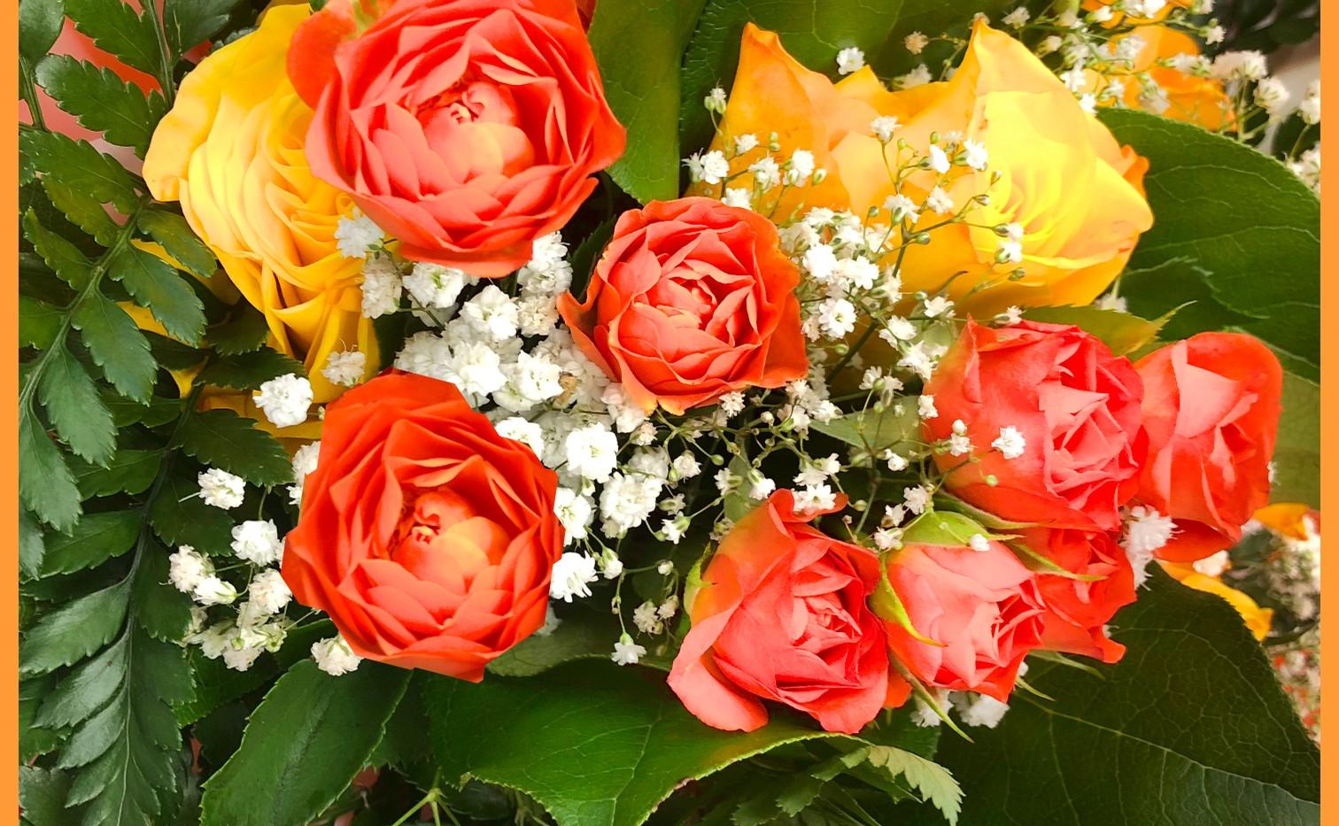 Bouquet Roses_oranges_gypso_autant_de_fl