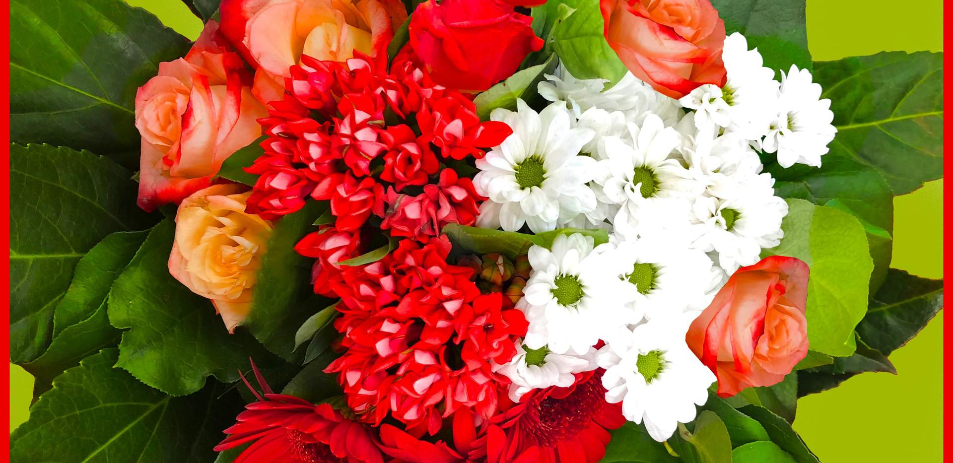 Bouquet rouge Fleuriste Autant de Fleurs