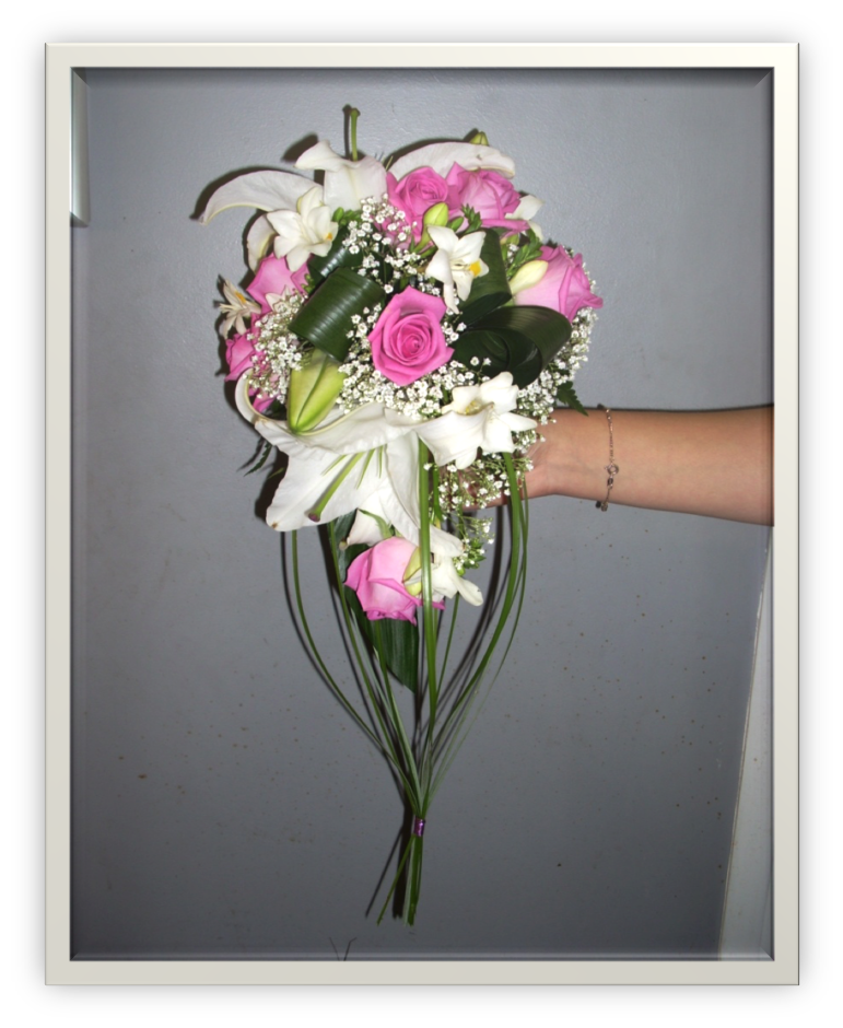 Bouquet_mariée_retombant_roses_roses
