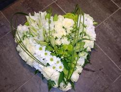 Coeur lys blanc vert