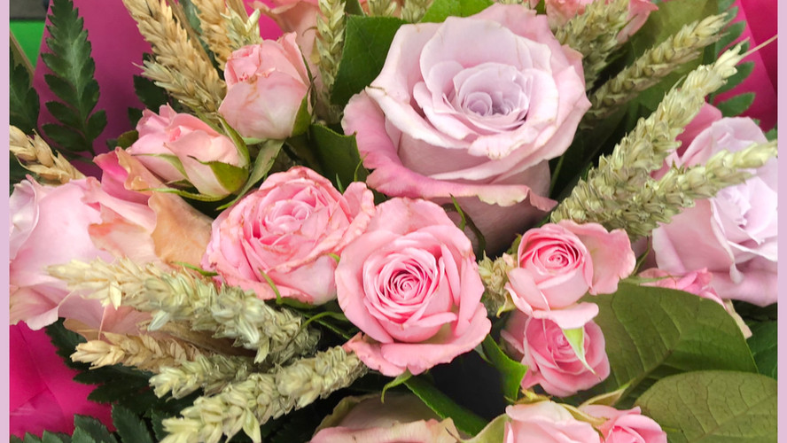 Bouquet Roses_roses_blé_autant_de_fleurs