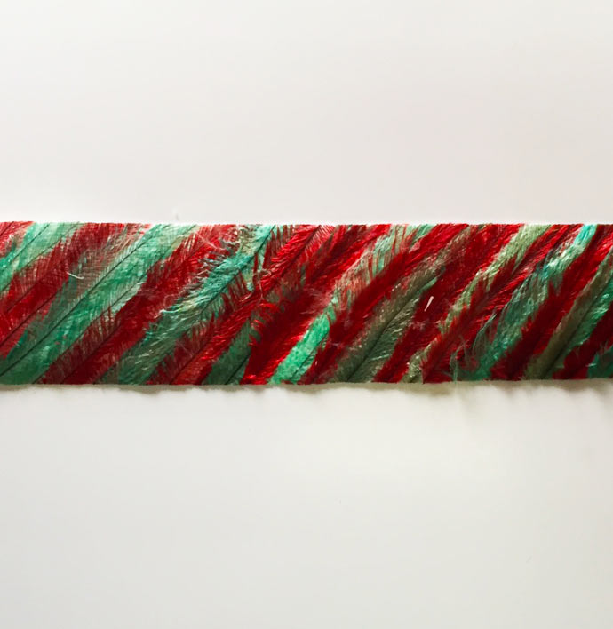 Two tone emu feathers tape