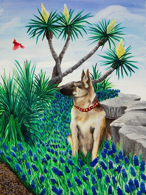 Custom Original Acrylic on Canvas Pet Tribute