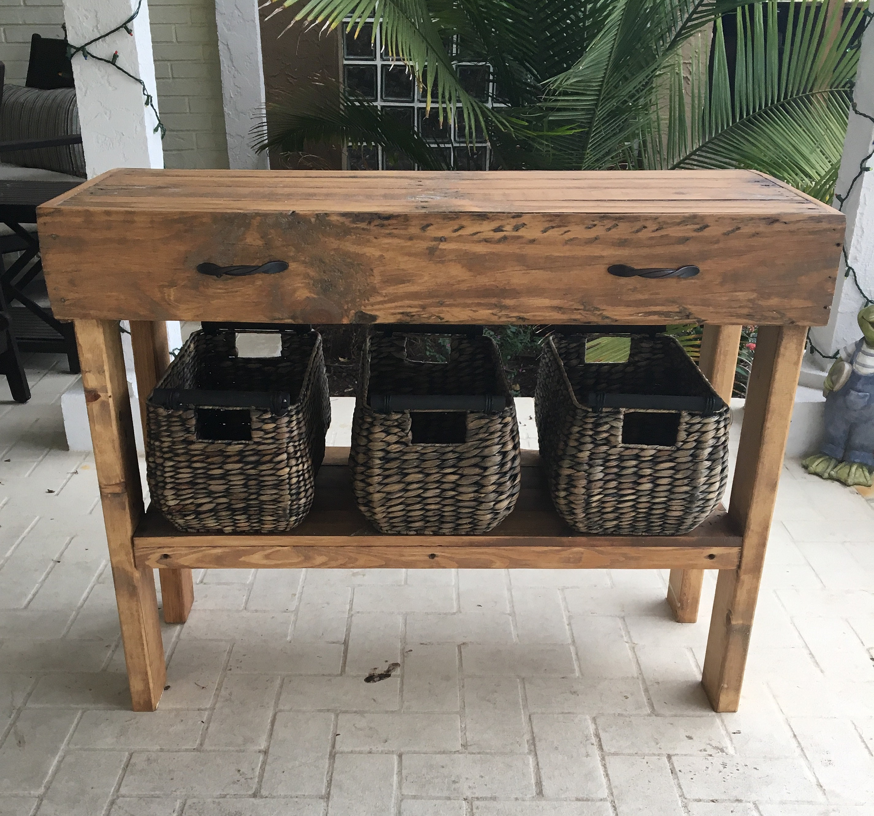 Pallet Entry Table Tasteful Pallet Console Or Entry Table