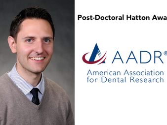 KEVIN BYRD AWARDED THE AADR POST-DOCTORAL HATTON PRIZE