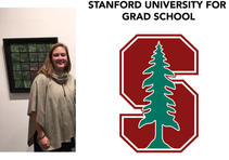 ABBY BERGMAN WILL BE GOING TO STANFORD FOR GRAD SCHOOL