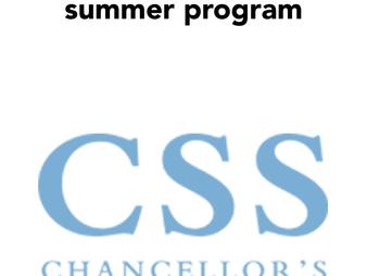 JASON GUO RECEIVES CHANCELLOR SCIENCE SCHOLAR SUMMER FELLOWSHIP