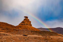Rainbow at Mexican rock