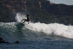 Local surfer in Gerupuk Inside