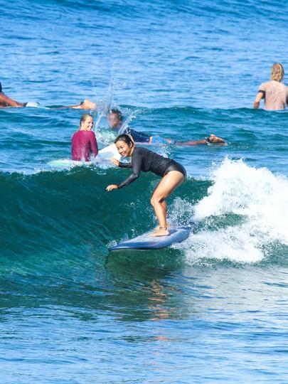 Beginner surf in seger