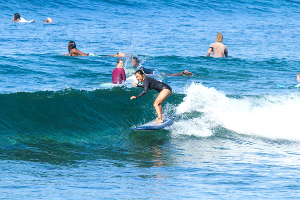 Learn to surf in lombok