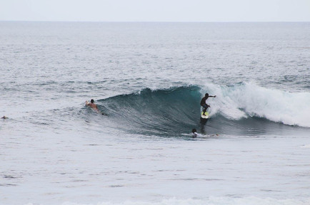 Local surfer on a wave in Seger