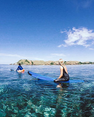 Crystal clear surf in Lombok