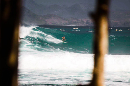 Surfing Mawi on a big swell