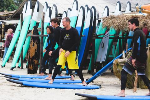 Pop up lesson on Selong Belanak Beach