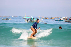 Surf in Selong Belanak with a fishy