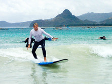 Never too late to learn surfing