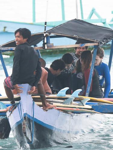 Group boat photo