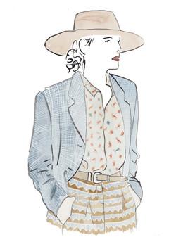 water colour fashion illustration