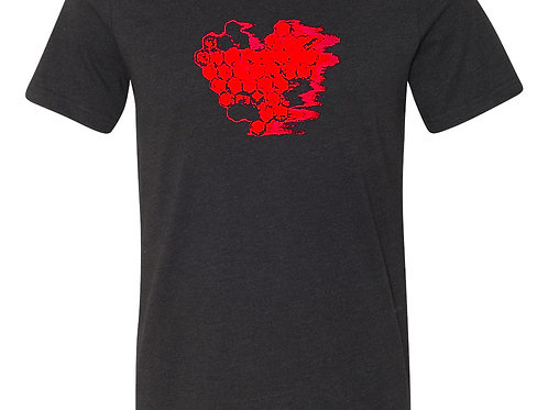 UNISEX HEART BEAT T SHIRT