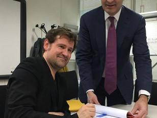 Promesse d'achat du terrain, signée par Augustin! Le 13 Mars 2020!