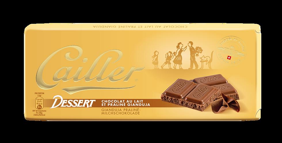 Tablette chocolat lait dessert praliné Cailler 100g