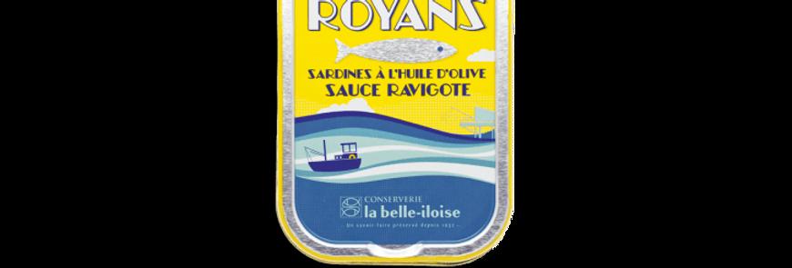Sardines huile d'olive sauce ravigote la belle-iloise 115g