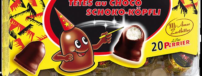 Têtes au chocolat mi-amer Villars