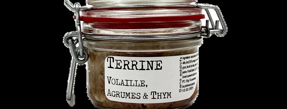 Terrine volaille, agrumes et thym Chez Denis 125g