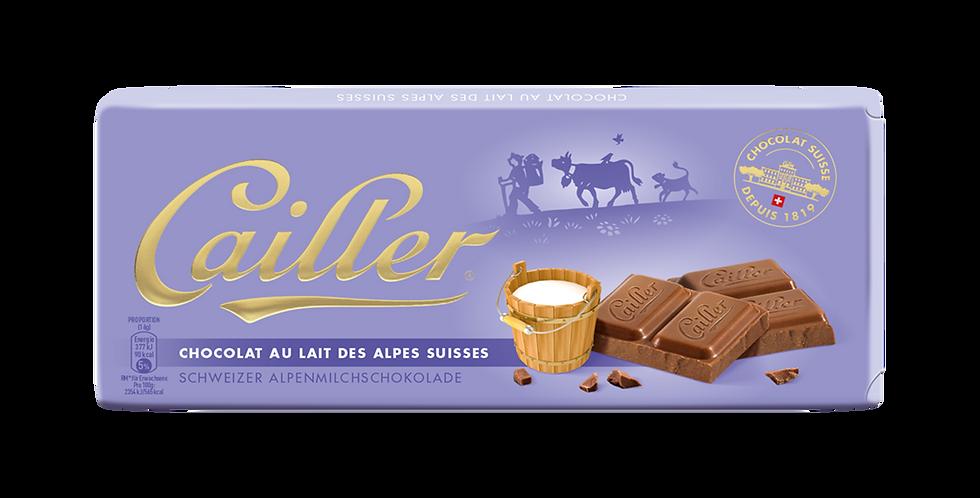 Tablette chocolat lait des Alpes Cailler 100g