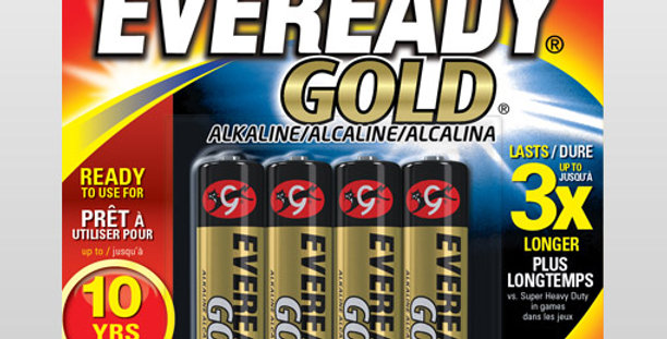 Piles AAA4 Eveready gold 4pces